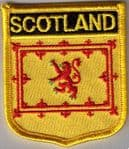 Scotland Lion Embroidered Flag Patch, style 07
