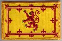 Scotland (Lion) Embroidered Flag Patch, style 08.