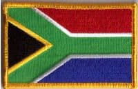South Africa Embroidered Flag Patch, style 08.