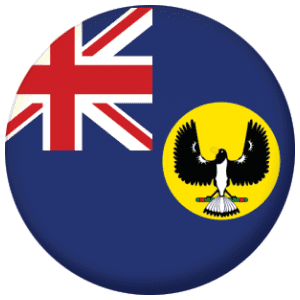 South Australia State Flag 25mm Pin Button Badge
