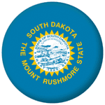 South Dakota State Flag 25mm Pin Button Badge