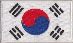 South Korea Embroidered Flag Patch, style 04.