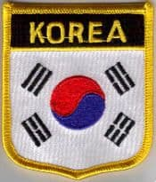 South Korea Embroidered Flag Patch, style 07.