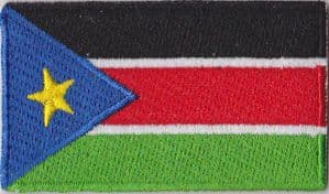 South Sudan Embroidered Flag Patch, style 04