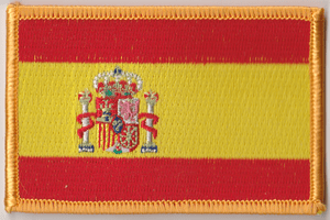 Spain Embroidered Flag Patch, style 08.