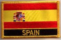 Spain Embroidered Flag Patch, style 09.