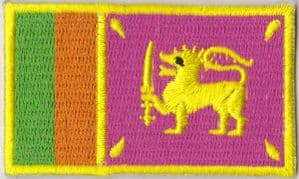 Sri Lanka Embroidered Flag Patch, style 04.