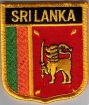 Sri Lanka Embroidered Flag Patch, style 07.