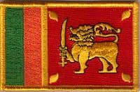 Sri Lanka Embroidered Flag Patch, style 08.
