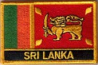 Sri Lanka Embroidered Flag Patch, style 09.