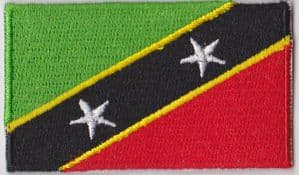 St Kitts and Nevis Embroidered Flag Patch, style 04