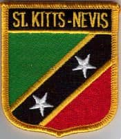 St. Kitts and Nevis Embroidered Flag Patch, style 07.