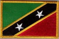 St. Kitts and Nevis Embroidered Flag Patch, style 08.