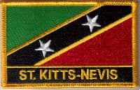 St. Kitts and Nevis Embroidered Flag Patch, style 09.