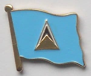St. Lucia Country Flag Enamel Pin Badge