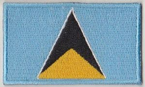 St. Lucia Embroidered Flag Patch, style 04.