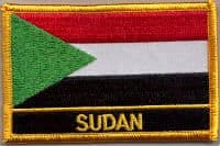 Sudan Embroidered Flag Patch, style 09