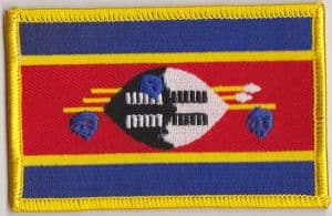 Swaziland Embroidered Flag Patch, style 08.