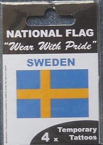 Sweden Country Flag Tattoos.