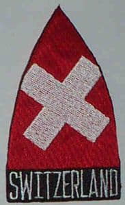 Switzerland Embroidered Flag Patch, style 02.