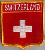 Switzerland Embroidered Flag Patch, style 06.