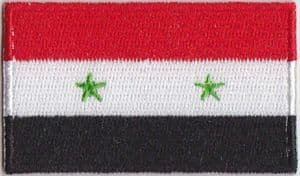 Syria Embroidered Flag Patch, style 04.