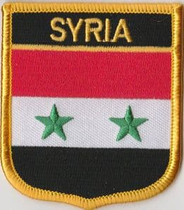 Syria Embroidered Flag Patch, style 07