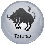 Taurus Astrology Grey 25mm Flat Back