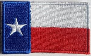Texas Embroidered Flag Patch, style 04
