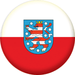 Thuringia State Flag 25mm Fridge Magnet