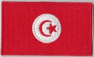 Tunisia Embroidered Flag Patch, style 04.