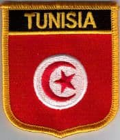Tunisia Embroidered Flag Patch, style 07.