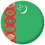 Turkmenistan Country Flag 58mm Mirror