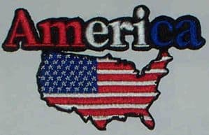 USA Embroidered Flag Patch, style 05.