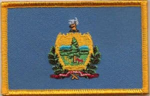 Vermont Embroidered Flag Patch, style 08.