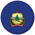 Vermont State Flag 25mm Pin Button Badge