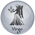 Virgo Astrology Grey 25mm Flat Back