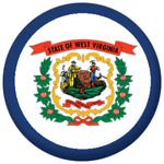 West Virginia State Flag 25mm Pin Button Badge