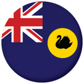 Western Australia State Flag 25mm Pin Button Badge
