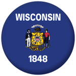 Wisconsin State Flag 58mm Mirror