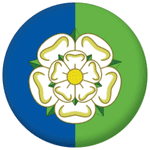 Yorkshire East Riding County Flag 25mm Flat Back