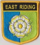 Yorkshire East Riding Embroidered Flag Patch, style 07.
