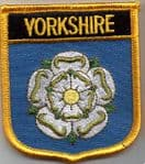 Yorkshire Embroidered Flag Patch, style 07.