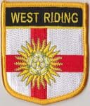 Yorkshire West Riding Embroidered Flag Patch, style 07.
