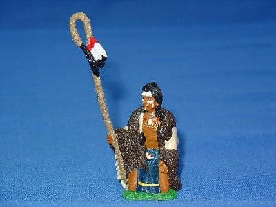 IND04 - Indian Chief with Bear Skin Pipe