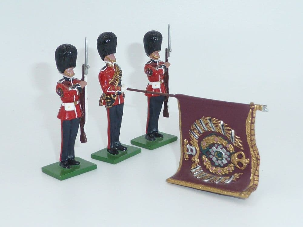 WB 5991 - Scots Guards - Colour Party with State Colour