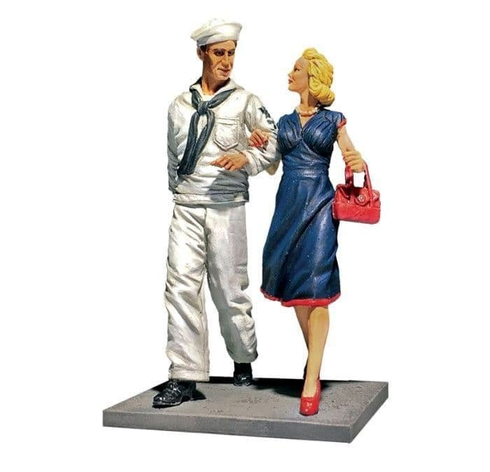 """WB13031 """"Shore Leave"""" U.S.N. Sailor on Liberty With Date, 1942-45"""