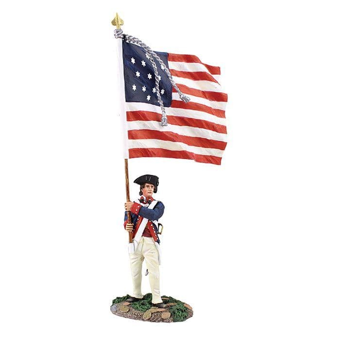 WB16038 Continental Line/1st American Regiment Ensign with National Colour 1782-90