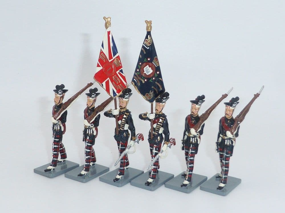 WB40273 Kings Own Scottish Borderers Colour Party