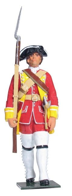 WB43146 British Private 15th Regiment of Foot 1754-1763